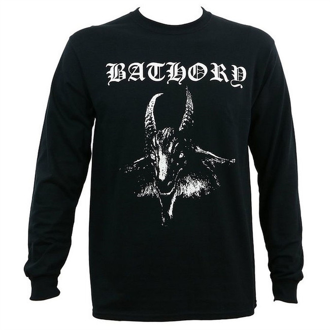Bathory White Goat Long Sleeve T-Shirt