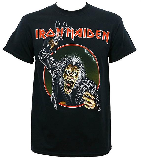 Iron Maiden Eddie Hook Men's Black T-Shirt