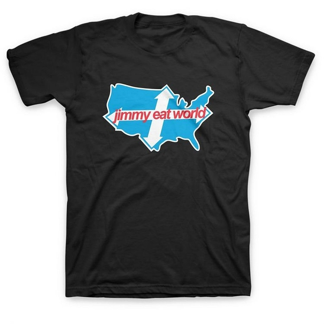 Jimmy Eat World Across America Men's T-Shirt Black