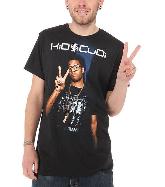 Kid Cudi - Peace Sign Photo T-Shirt