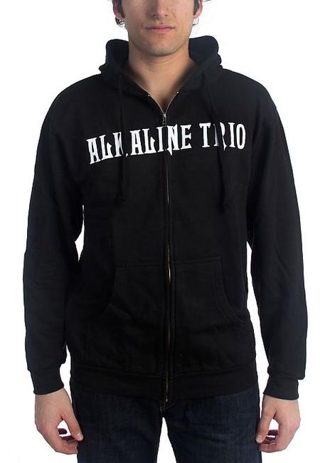 Alkaline Trio Classic Heartskull Zip Hoodie Sweatshirt