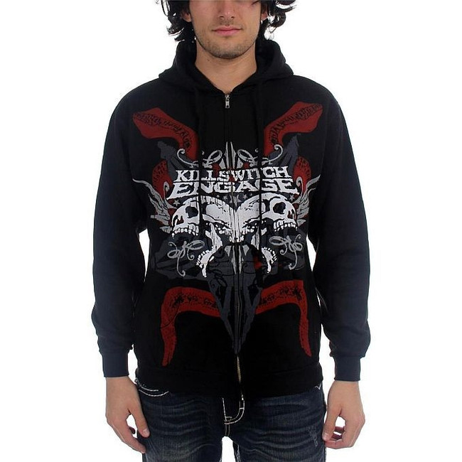 Killswitch Engage Skull Zip Hoodie Sweatshirt