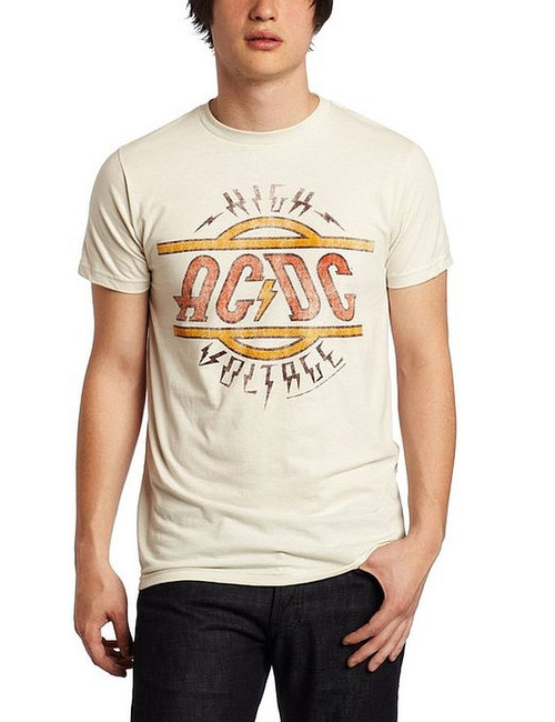 AC/DC High Voltage Distressed Fitted T-Shirt