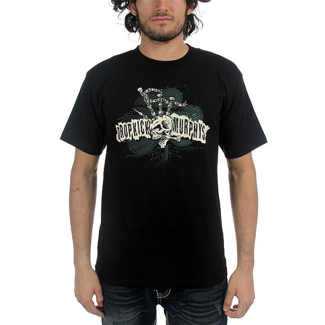 Dropkick Murphys Bagpipe Skeleton Mohawk T-Shirt