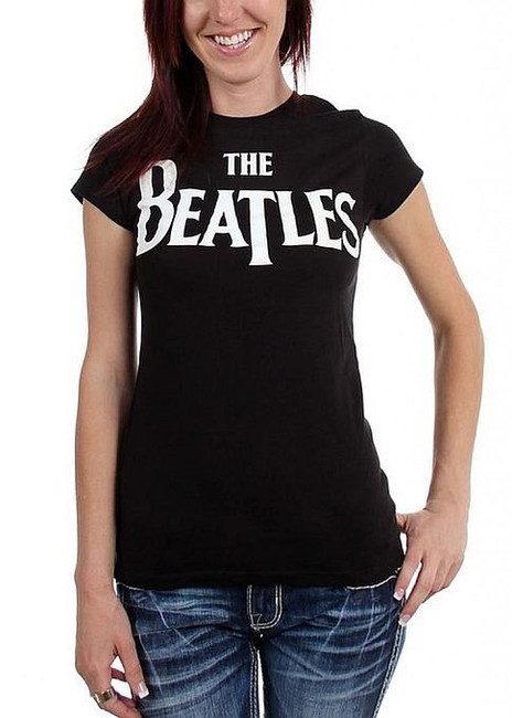 The Beatles Logo Universal Women's Babydoll T-Shirt