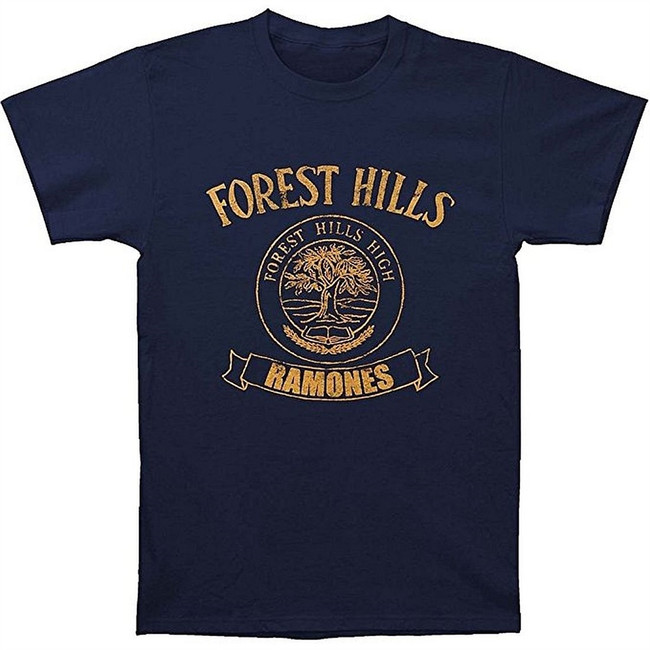 Ramones Forest Hills High Men's Navy T-Shirt