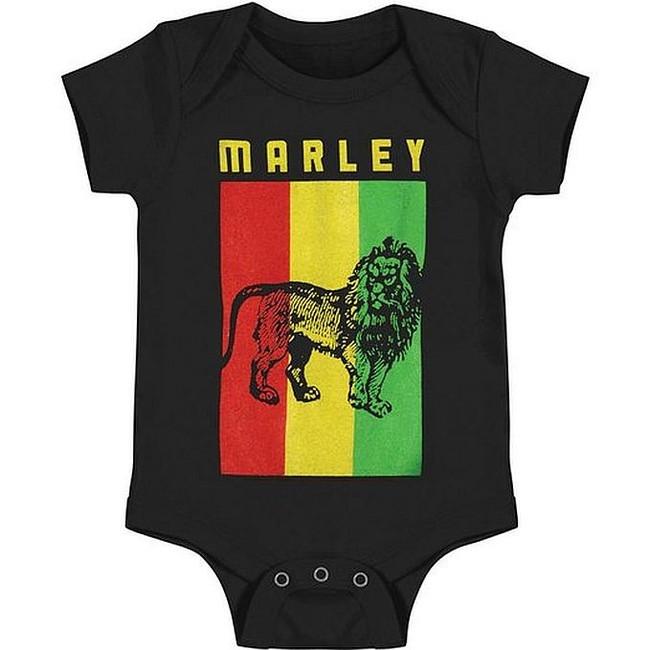 Bob Marley Lion Flag Baby Romper T-Shirt