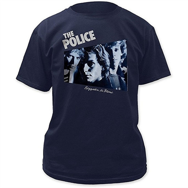 The Police Reggatta De Blanc Men's Navy T-Shirt