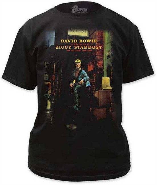 David Bowie Ziggy Plays Guitar T-Shirt