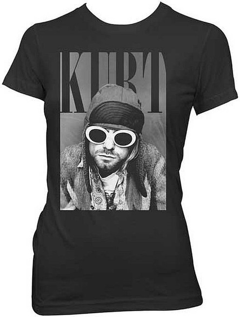 Nirvana Kurt Cobain With Shades Junior Women's T-Shirt