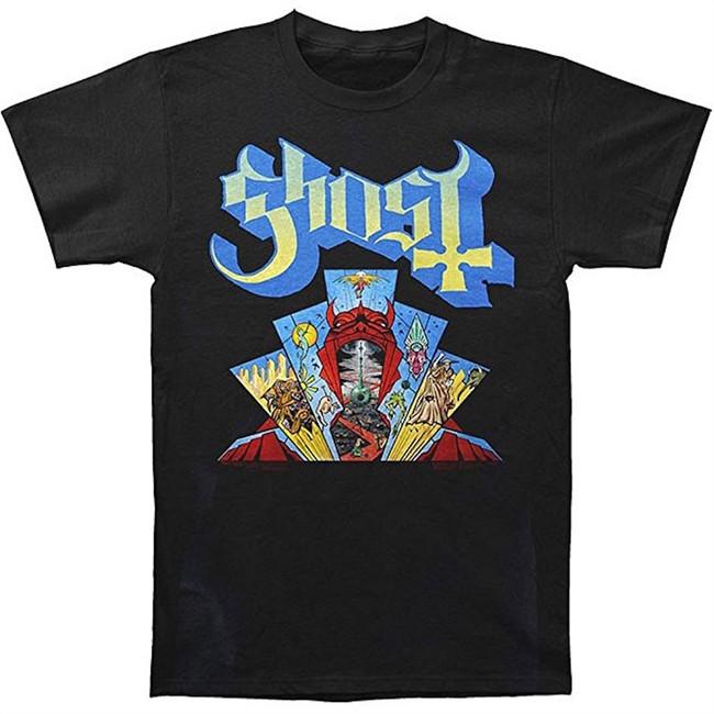 Ghost Devil Window Men's Black T-Shirt