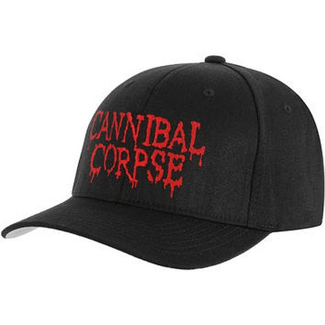 Cannibal Corpse Embroidered Logo Flexfit Hat Cap