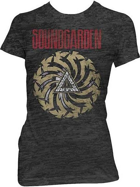 Soundgarden Badmotorfinger Junior Women's Burnout T-Shirt