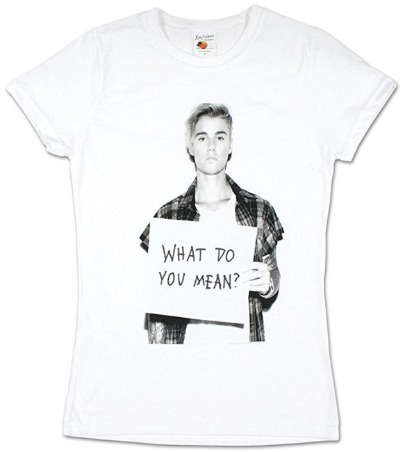 Justin Bieber What Do You Mean Junior Women's T-Shirt