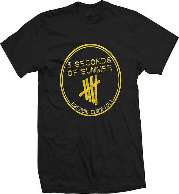 5 Seconds of Summer Yellow Derping Stamp T-Shirt
