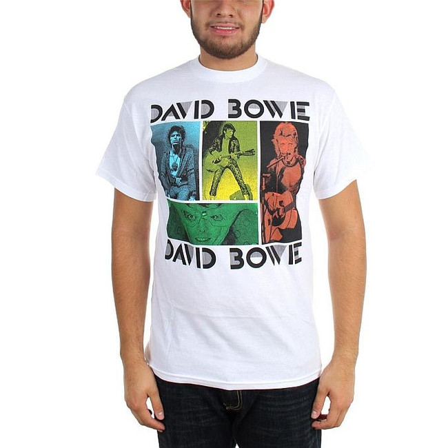 David Bowie Colored Squares T-Shirt