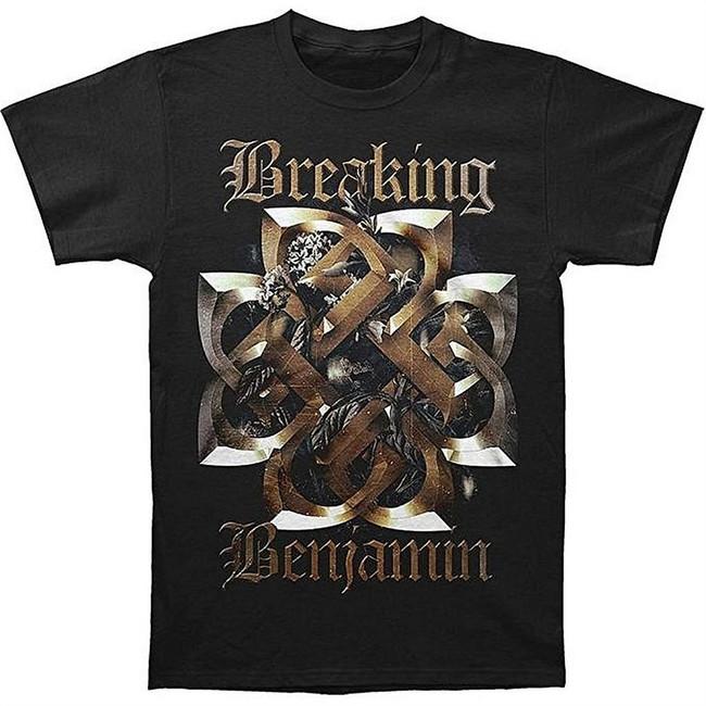 Breaking Benjamin Floral Symbol Men's Black T-Shirt