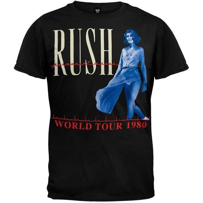 Rush - Permanent Waves 1980 Tour T-Shirt