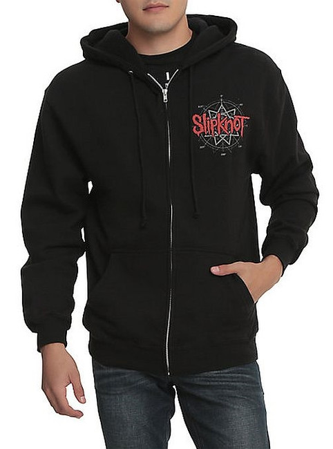 Slipknot Skull Back Zip Hoodie Sweatshirt