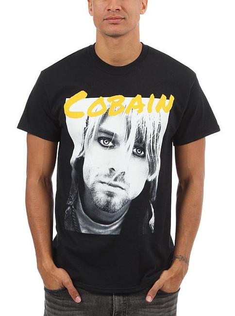 Nirvana Kurt Cobain Yellow Cobain Photo T-Shirt