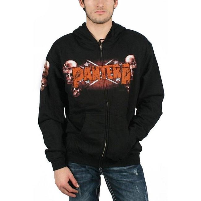 Pantera - Skull Zip Hoodie Sweatshirt
