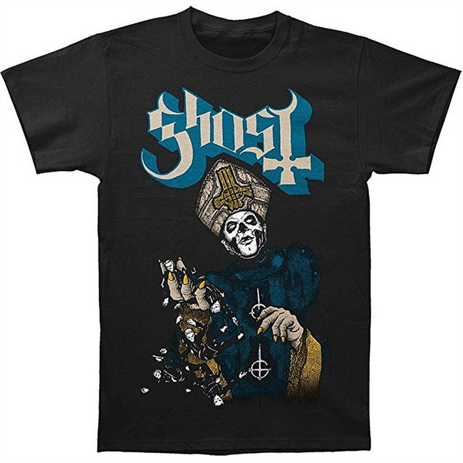 Ghost Papa of the World on Fire Men's Black T-Shirt