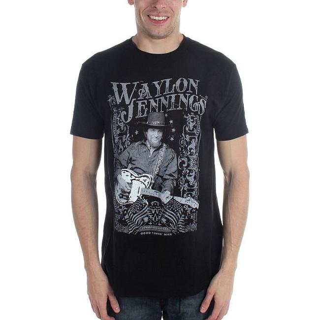 Waylon Jennings Portrait T-Shirt