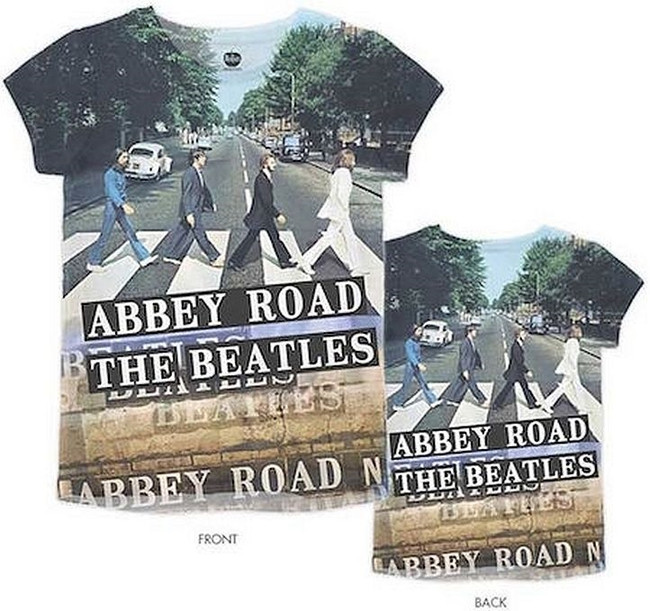 The Beatles Abbey Road Sublimation Junior Women's T-Shirt