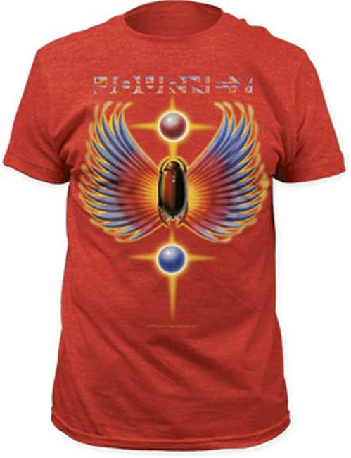 Journey Hits Men's Lightweight Red T-Shirt