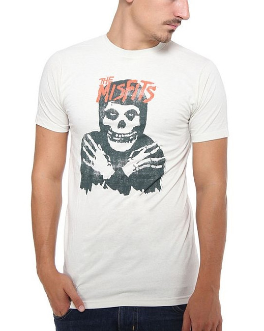 Misfits Classic Skull Distressed Fitted T-Shirt Danzig