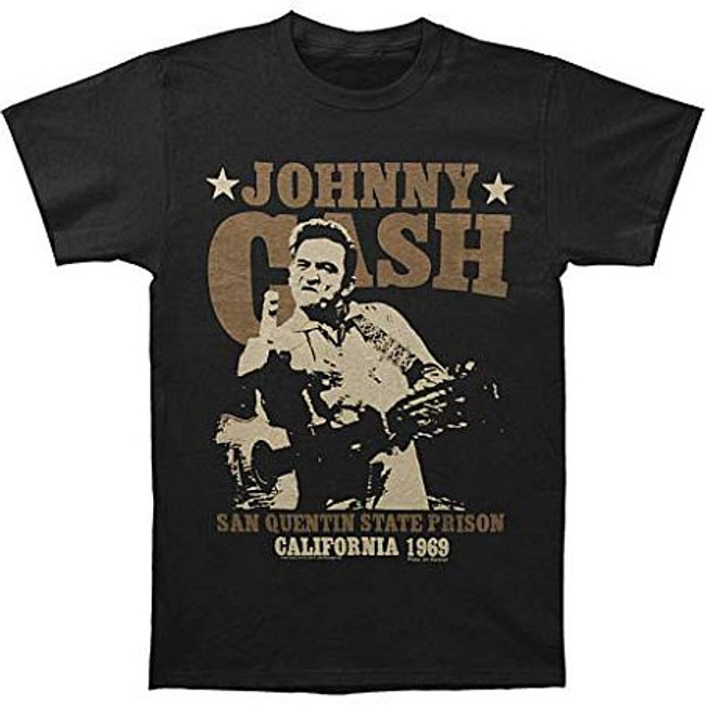 Johnny Cash Outlaw Finger Lightweight T-Shirt