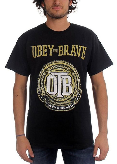 Obey The Brave Young Blood Crest T-Shirt