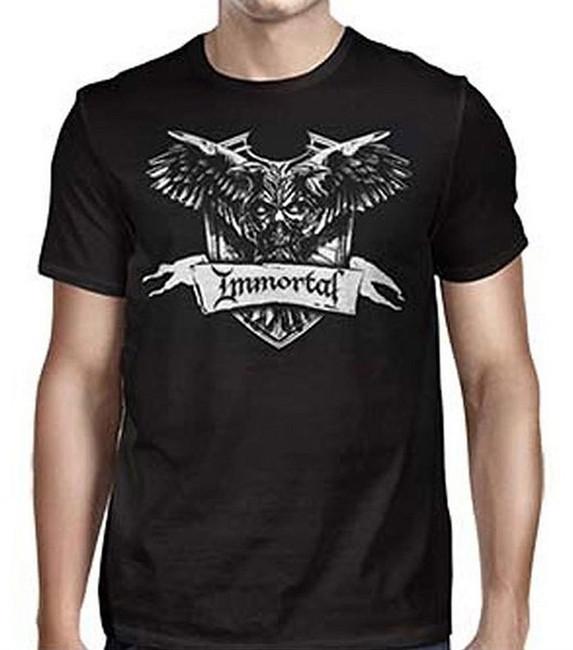 Immortal Crest Men's Black T-Shirt
