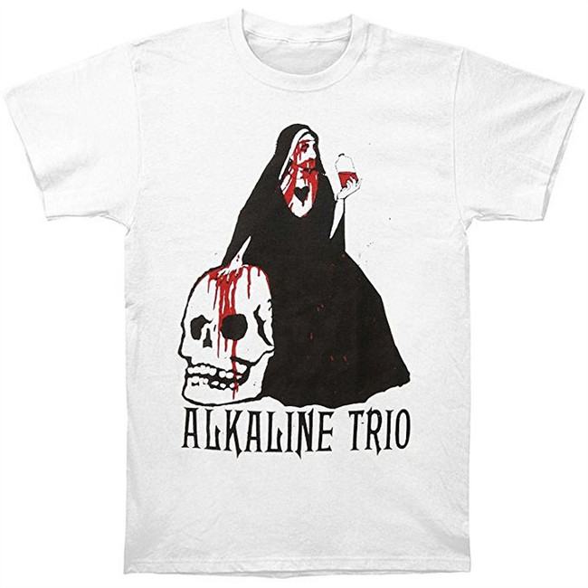 Alkaline Trio Nun Men's White T-Shirt