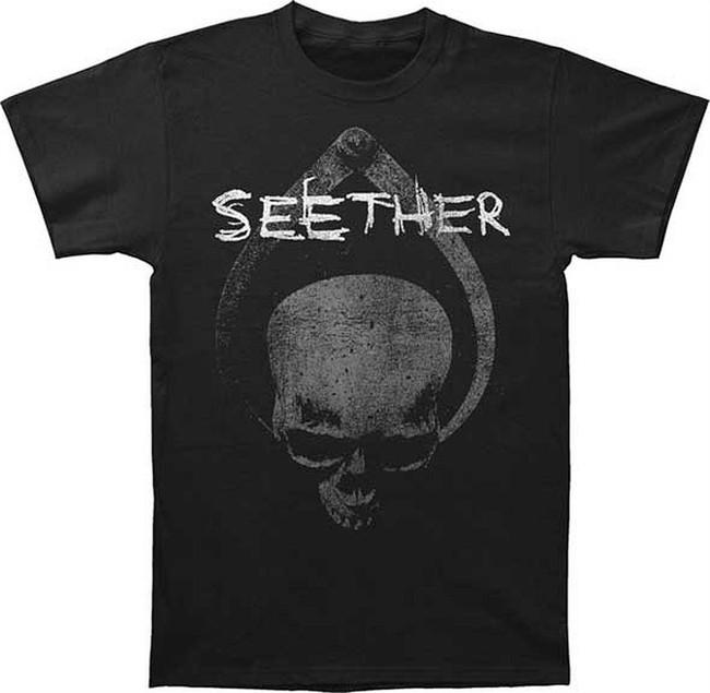 Seether Skull Clamp Men's Black T-Shirt