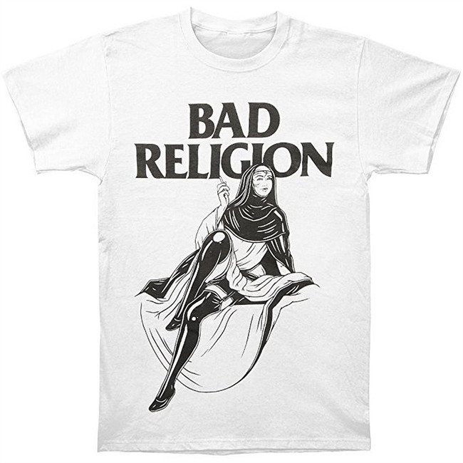 Bad Religion Sexy Nun Men's White T-Shirt