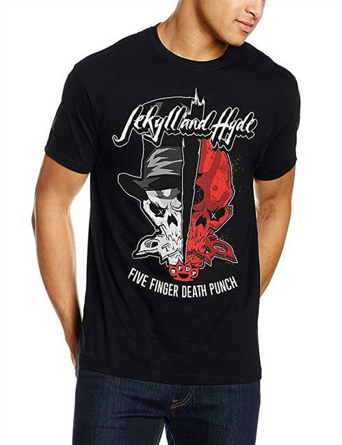Five Finger Death Punch Jekyll and Hyde Men's Black T-Shirt
