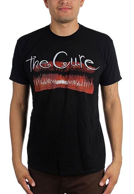The Cure Kiss Me Lips Vintage Men's Black T-Shirt