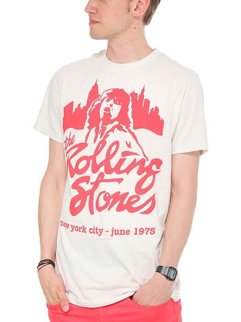 Rolling Stones Mick June 1975 NYC T-Shirt