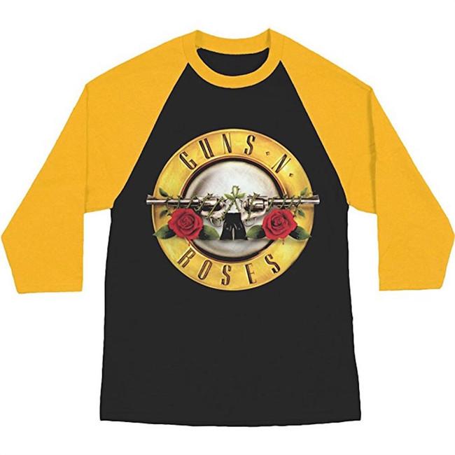 Guns N Roses Bullet Logo Raglan Baseball T-Shirt