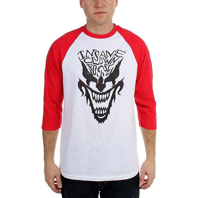 Insane Clown Posse Face Raglan Baseball T-Shirt