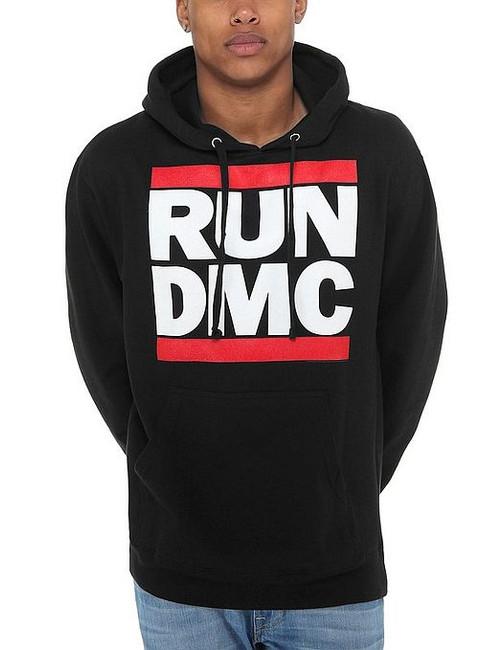 Run DMC Logo Pullover Hoodie Sweatshirt