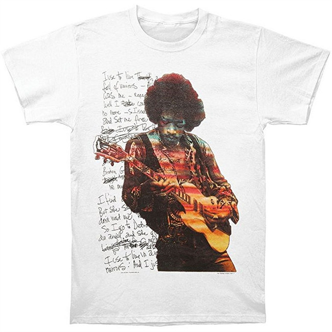 Jimi Hendrix Room Full Mirrors Men's T-Shirt White