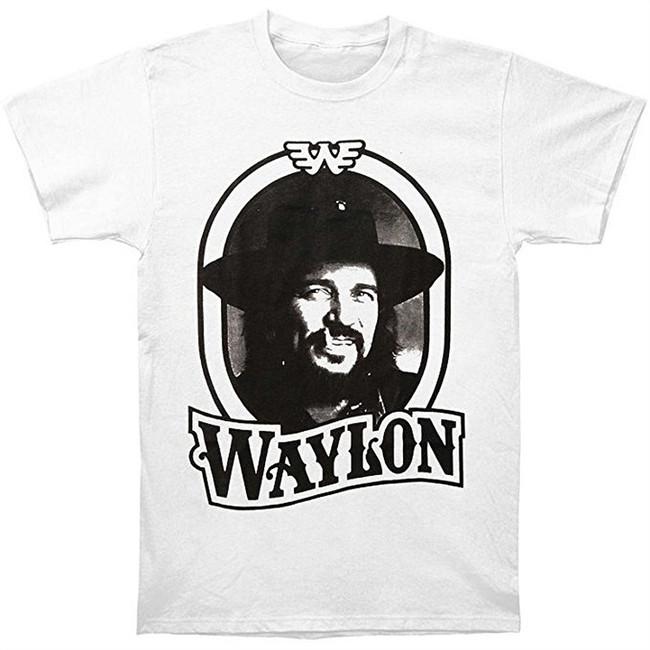 Waylon Jennings 79 Tour T-Shirt Men's White T-Shirt