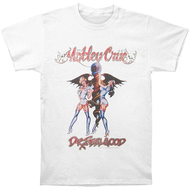 Motley Crue Dr. Feelgood Vintage Men's White T-Shirt