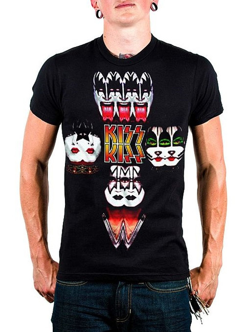 Kiss Mirrored Image T-Shirt