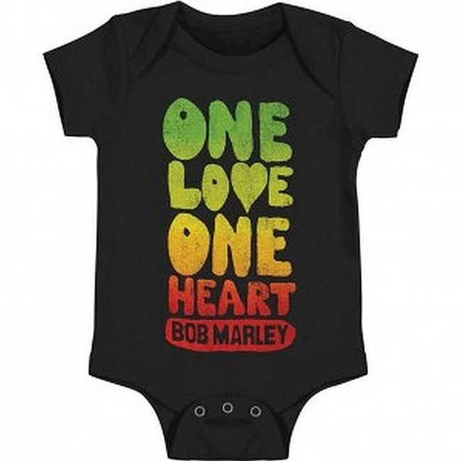 Bob Marley One Love One Heart Baby Romper T-Shirt