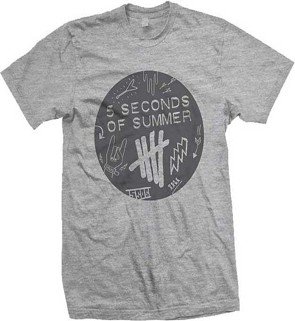 5 Seconds of Summer Scribble Logo T-Shirt