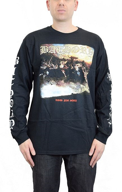 Bathory Blood Fire Death Long Sleeve T-Shirt