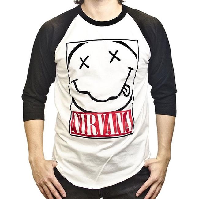 Nirvana Box Smile Raglan Baseball T-Shirt